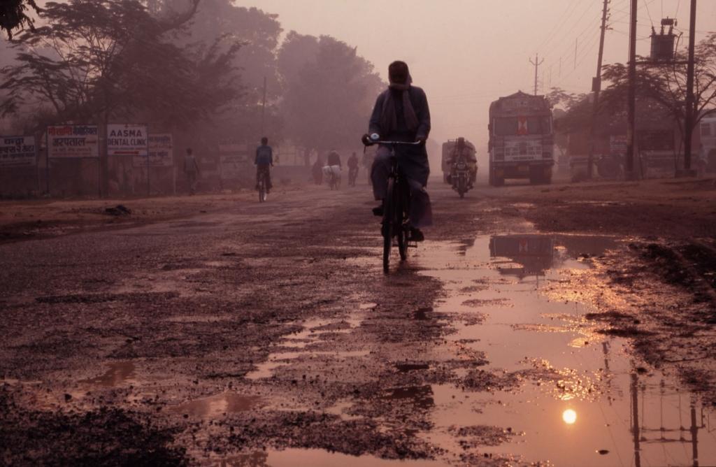 indien-morgenstimmung-strasse