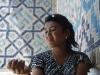 Usbekistan, Samarkand, Registan, VerkŠuferin, junge Frau, Dame, people, Portrait, hŸbsch,