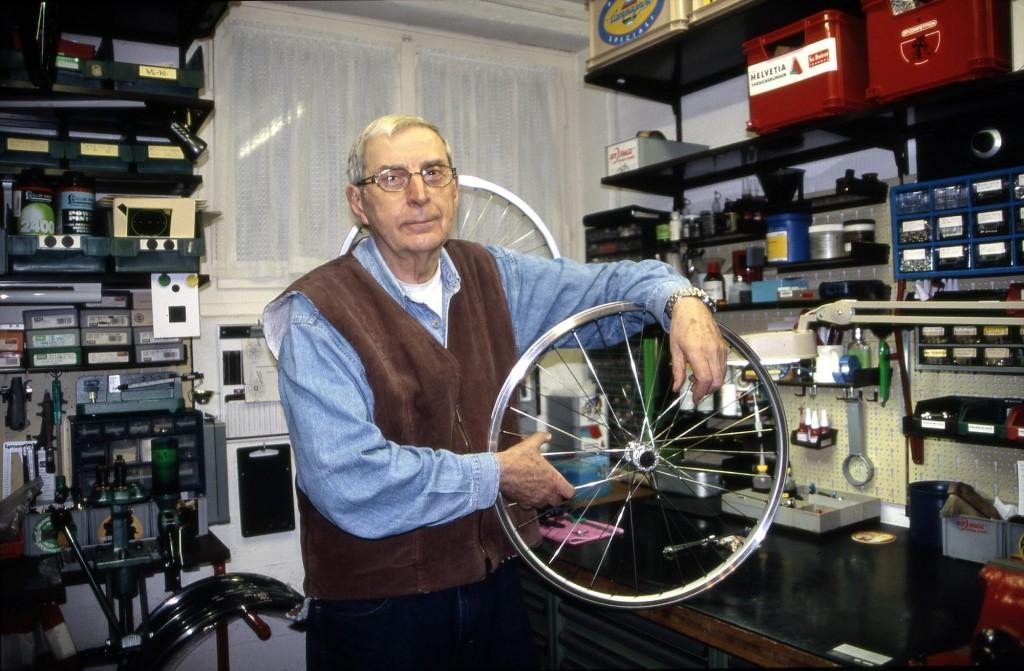Gerd Schraner in seinem Atelier